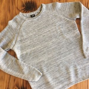 H&M - Speckled Gray Knitted Crewneck Sweater